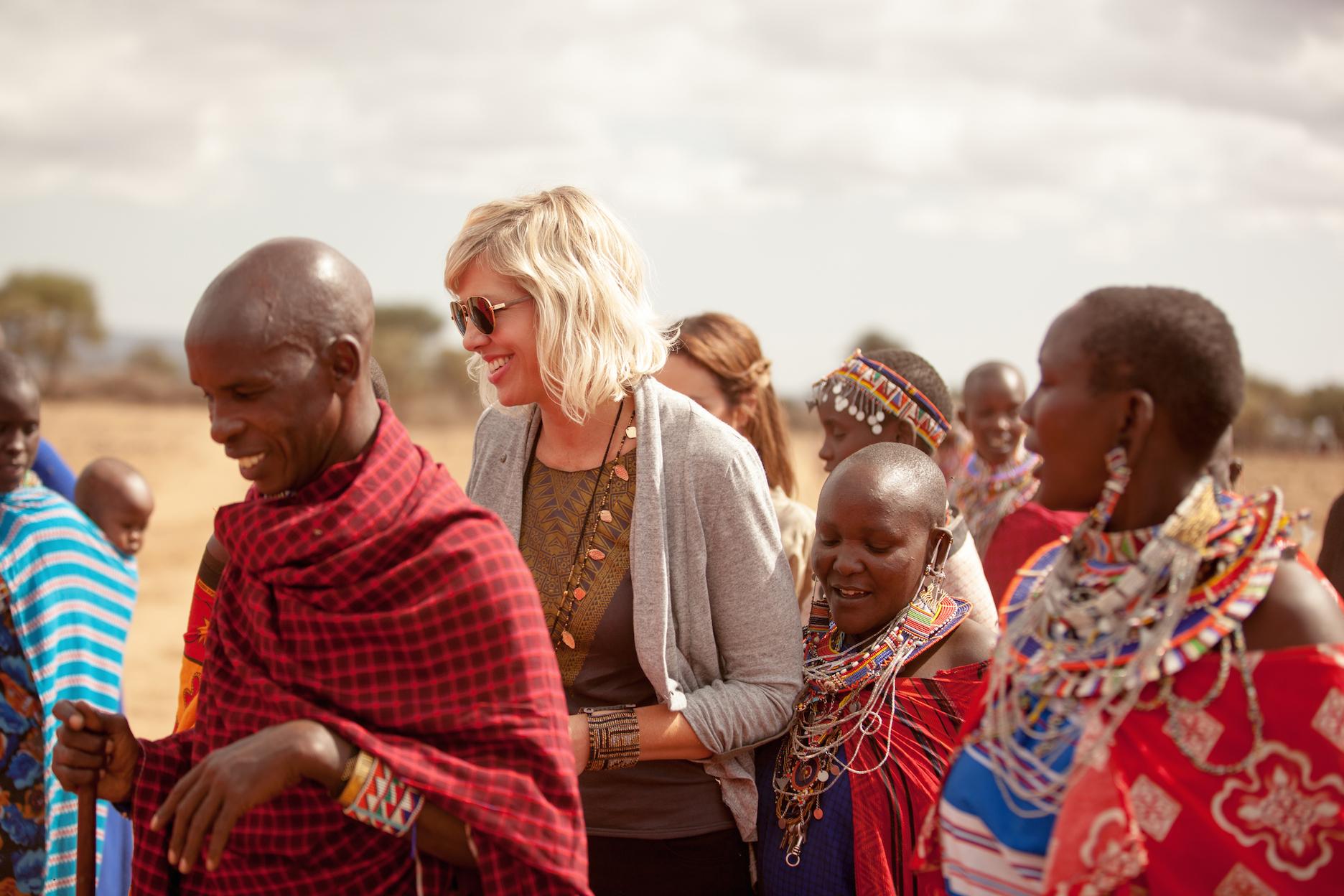 Kirsten Dickerson in Africa